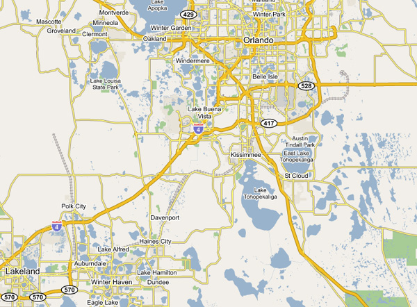 Orlando Map and Attractions